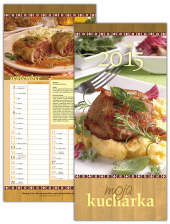 Moja kuchárka 2015 Rodinný plánovací kalendár