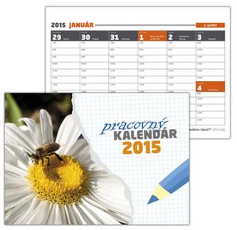 Pracovný kalendár 2015 Stolový kalendár Malý