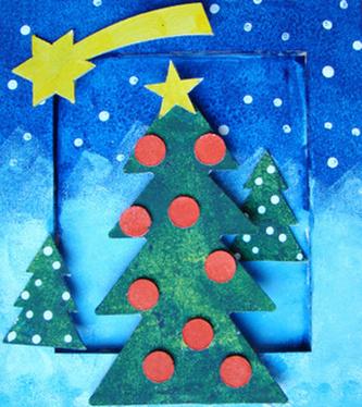 Rám malý Vánoční srtom