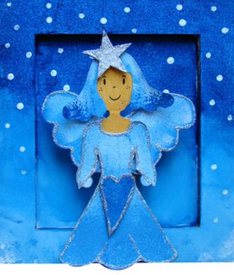 Rám malý Vánoční anděl