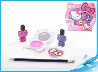 Kosmetická sada Hello Kitty lak na nehty 2ks+zrcátko+pilník v krabičce