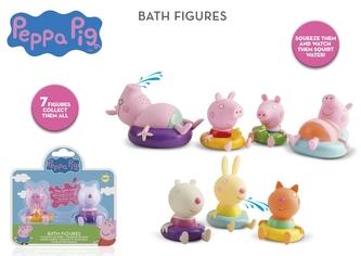 Figurky do vany 2ks Peppa Pig 7druhů 18m+ na kartě