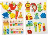 Dřevěné narozeninové nálepky - 10 druhů