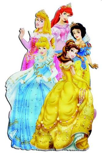 Princezny - samolepky na zeď 90x50 cm