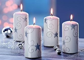Svíčky dekorativní - sada 4 ks