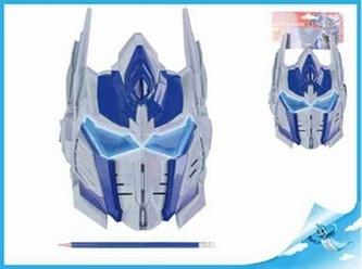 Bojová maska Optimus Prime 26x20cm Transformers na kartě