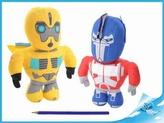 Robot Transformers 20cm látkový 2druhy 0m+