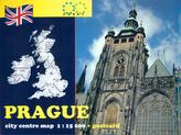 Prague city centre map 1 : 15 000 + postcard