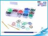 Gumičky 360ks pro kluky s doplňky v plastové krabičce