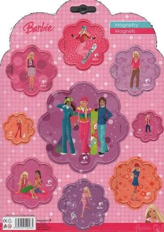 Magnetky Barbie - Fashion