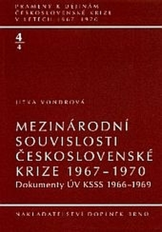 Mezinárodní souvislosti československé krize 1967–1970