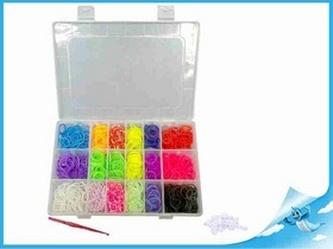 Gumičky 1440ks s doplňky v plastové krabičce