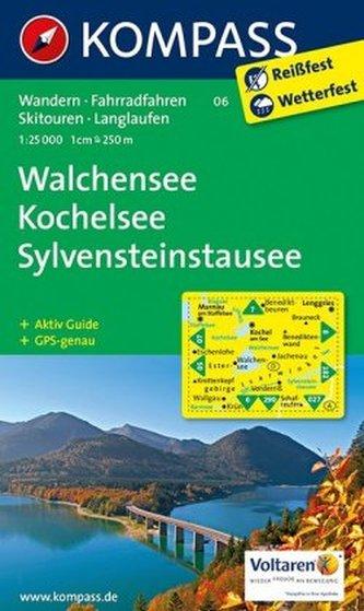 Kompass Karte Walchensee - Kochelsee - Sylvenstein-Stausee