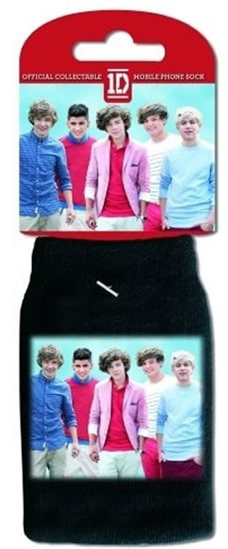 Obal na telefon - One Direction/černý/foto a srdíčka