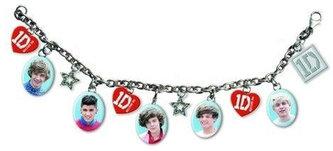 Naramek s přívěsky - One Direction/ikony & srdce 1D logo