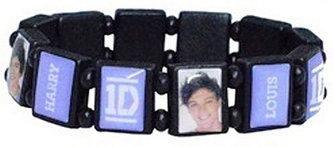 Náramek na gumickách - One Direction/fialový