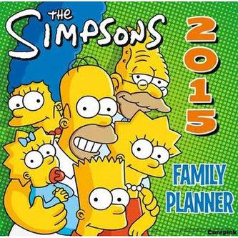 Kalendář 2015 - Simpsonovi rodinný plánovač/Simpsons planner (305x305)