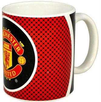 Hrnek keramický - FC Manchester United/červený znak Bullseye