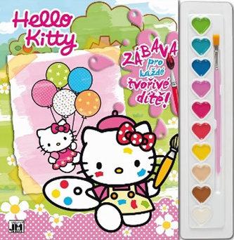 Hello Kitty - omalovánka s vodovkami
