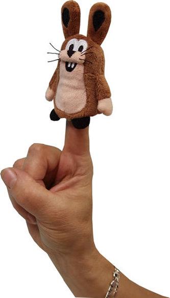 Zajíc 8cm - prstový maňásek (Krtek a kamarádi) - Moravská ústředna Brno
