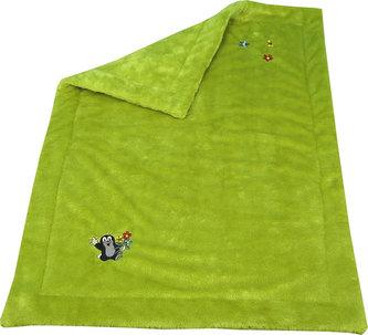 Krtek - Deka kytky -zelenožlutá