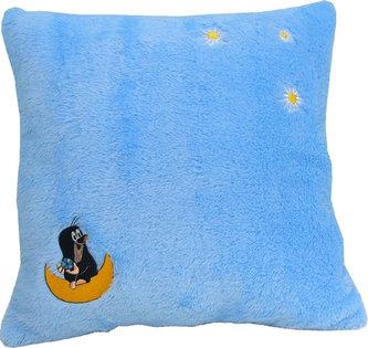 Krtek a Hvězdy - Polštář světle modrý