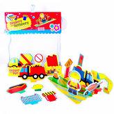 Pěnová sada hraček do vany Stavební stroje