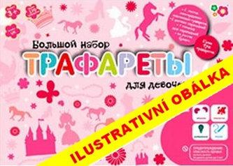 Kreslicí šablony s pastelkami velký box pro holčičky