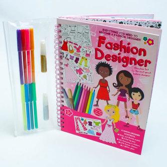 Módní návrhářka - Kreslicí kniha se samolepkami