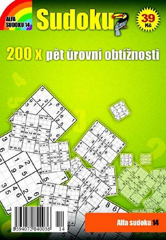 Sudoku 14 - 200x pět úrovní obtížnosti