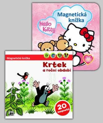 Balíček 2ks Magnetická knížka Hello Kitty + Krtek a období