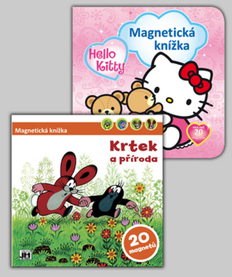 Balíček 2ks Magnet knížka Hello Kitty + Krtek a příroda
