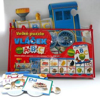 Velké puzzle vláček ABC