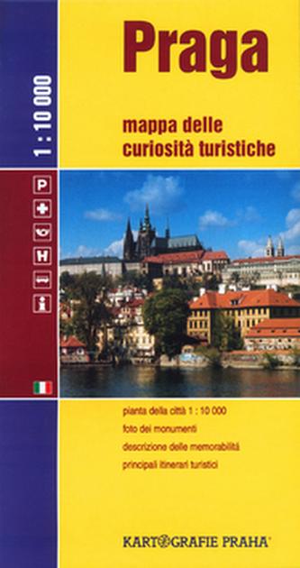 Praga mapa turis.zajím.italsky