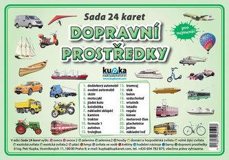 Sada 24 karet - dopravní prostředky - Kupka Petr