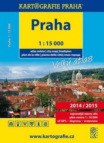 Velký atlas Prahy 1:15 000