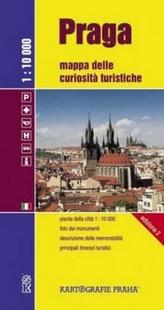 Praga Mappa delle curiositá turistische 1:10 000