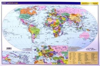 Svět Politická mapa A3