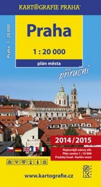 Praha Příruční plán města 1:20 000
