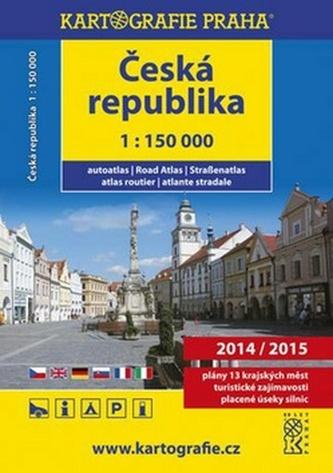 Autoatlas Česká Republika 1:150 000 2014/2015