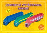 Jednoduchá vystřihovánka kamionů - Stavebnice papírového modelu