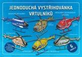 Jednoduchá vystřihovánka vrtulníků - Stavebnice papírového modelu