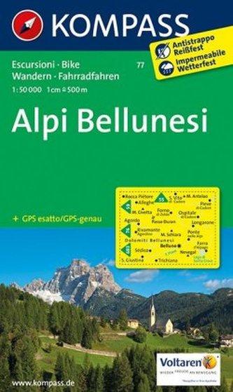 Kompass Karte Alpi Bellunesi