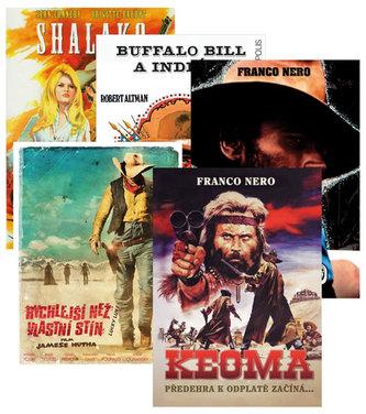Westernová filmová kolekce 5DVD (Keoma + Buffalo Bill a indiáni + Shalako + Adios Django + Rychlejší než vlastní stín)