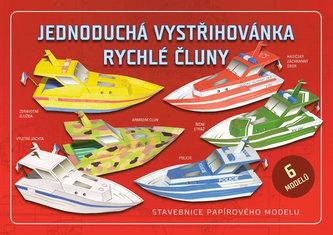 Jednoduchá vystřihovánka rychlé čluny - Stavebnice papírového modelu