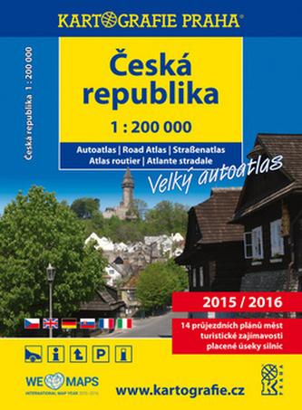 Česká republika, autoatlas 1:200 000
