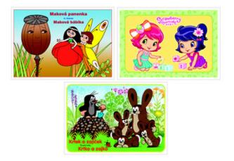 Balíček 3 ks Strawberry baby, Makova panenka, Krtek a zajíček  - omalovánky