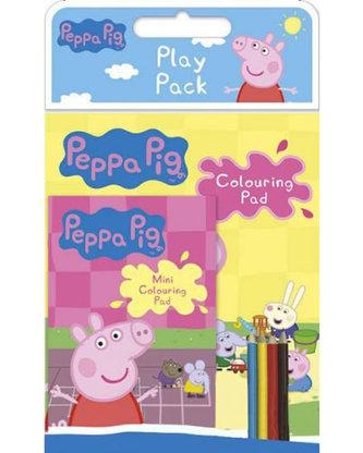 Prasátko Peppa - 2in1 balení omalovánek - Velké a malé s pastelkami