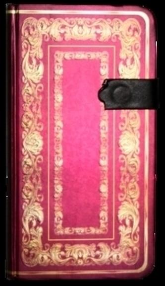 Zápisník s magnetickým klipem 85x160 mm se zlatým ornamentem
