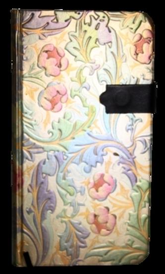 Zápisník s magnetickým klipem 85x160 mm duhové květiny